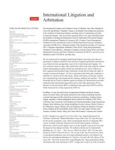 International Litigation and Arbitration