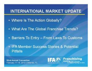 INTERNATIONAL MARKET UPDATE