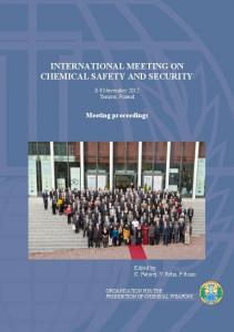 INTERNATIONAL MEETING ON CHEMICAL SAFETY AND SECURITY