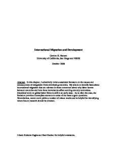 International Migration and Development