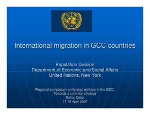 International migration in GCC countries