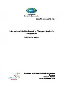 International Mobile Roaming Charges: Mexico s Experience