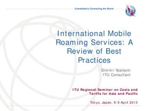 International Mobile Roaming Services: A Review of Best Practices