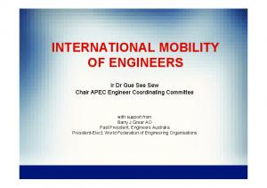 INTERNATIONAL MOBILITY OF ENGINEERS