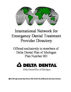 International Network for Emergency Dental Treatment Provider Directory