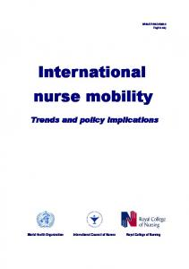 International nurse mobility