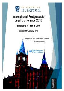 International Postgraduate Legal Conference 2016