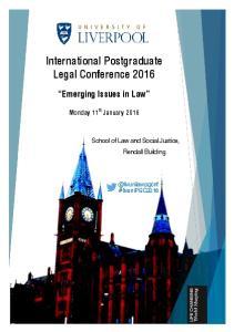International Postgraduate Legal Conference 2016