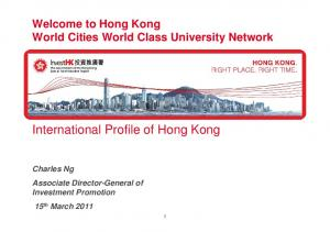 International Profile of Hong Kong