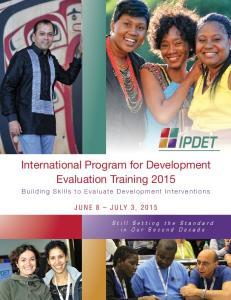 International Program for Development Evaluation Training 2015