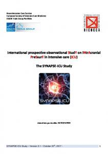 International prospective observational StudY on intracranial PreSsurE in intensive care (ICU) The SYNAPSE-ICU Study