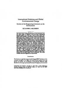 International Relations and Global Environmental Change