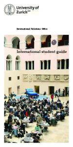 International Relations Office. International student guide
