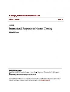 International Response to Human Cloning
