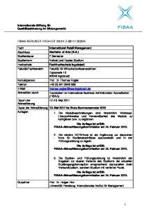 International Retail Management Bachelor of Arts (B.A.)