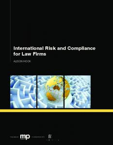International Risk and Compliance for Law Firms