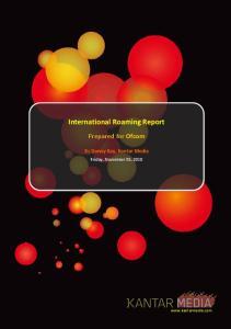 International Roaming Report