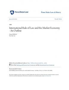 International Rule of Law and the Market Economy - An Outline