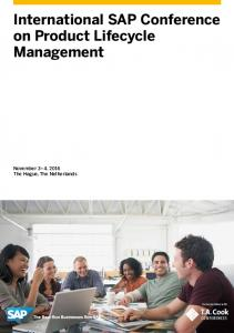 International SAP Conference on Product Lifecycle Management