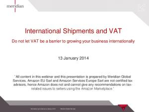 International Shipments and VAT