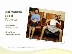 International Social Etiquette