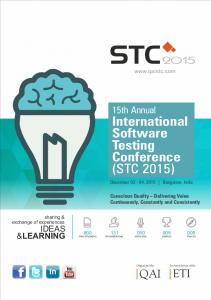 International Software Testing Conference (STC 2015)