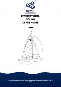 INTERNATIONAL SOLING CLASS RULES