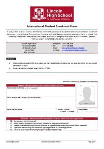 International Student Enrolment Form