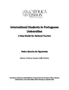 International Students in Portuguese Universities