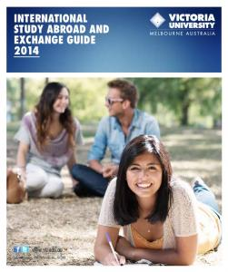 INTERNATIONAL STudy AbROAd ANd ExCHANGE GuIdE 2014