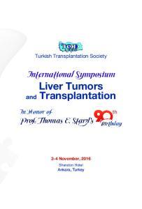 International Symposium Liver Tumors