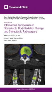International Symposium on Stereotactic Body Radiation Therapy and Stereotactic Radiosurgery
