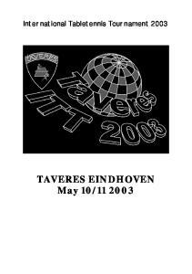 International Tabletennis Tournament 2003