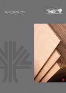 InTeRnaTIOnal TIMBeR panel products guide