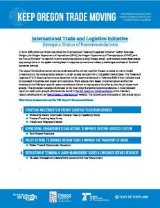 International Trade and Logistics Initiative