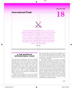International Trade CHAPTER