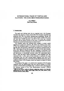 INTERNATIONAL TRADE OF TEXTILE AND CLOTHING: THE EURO-MEDITERRANEAN AREA