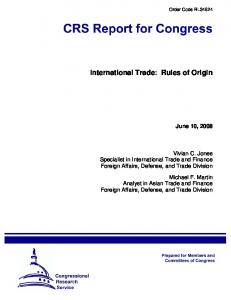 International Trade: Rules of Origin