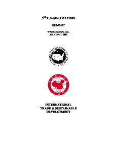 INTERNATIONAL TRADE & SUSTAINABLE DEVELOPMENT