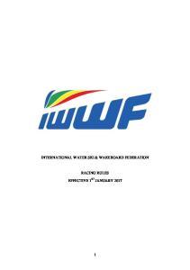 INTERNATIONAL WATER SKI & WAKEBOARD FEDERATION RACING RULES