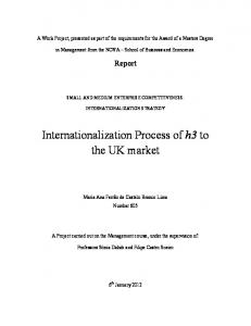 Internationalization Process of h3 to the UK market