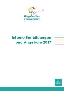 Interne Fortbildungen und Angebote 2017