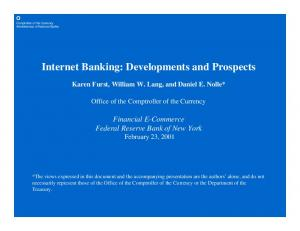 Internet Banking: Developments and Prospects
