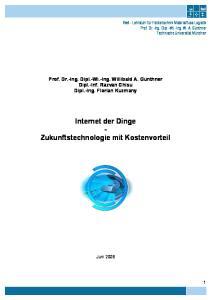 Internet der Dinge - Zukunftstechnologie mit Kostenvorteil