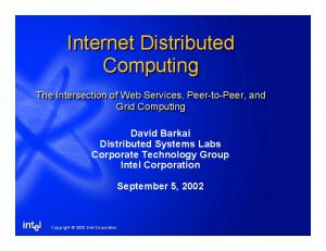 Internet Distributed Computing