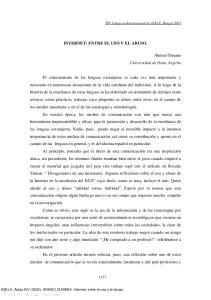 INTERNET: ENTRE EL USO Y EL ABUSO