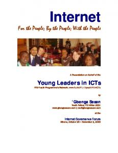 Internet For the People; By the People; With the People