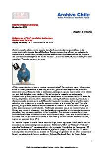 Internet: Hackers chilenos Noviembre 2006