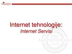 Internet tehnologije: Internet Servisi