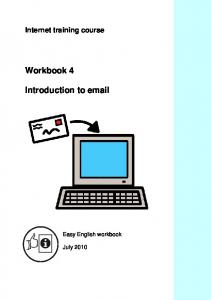 Internet training course. Workbook 4. Introduction to  . Easy English workbook